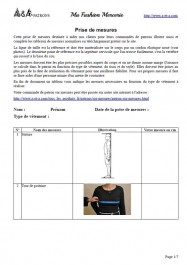 Document : prise de mesures