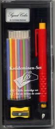 Portemine avec jeu de craies de couleur 4 mm