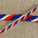 Cordon tricolore torsadé