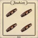 Bouton bois buchette brun