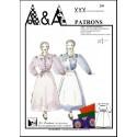 """Patron de robe """"raubo Marsiheso"""" ou jupe """"lou countihoun"""" de dessus P209 (robe provençale)"""