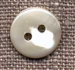 Bouton 2 trous nacre diamètre 13 mm