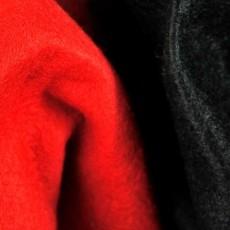 Feutrine Rouge ou Noir en 90 cm