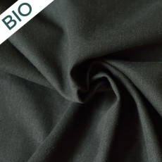 Tissu au mètre bio coton et chanvre noir