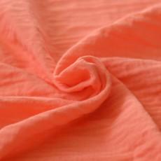 Tissu double-gaze bio rose corail