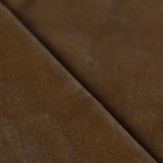 Tissu coupon velours lisse camel haute qualité