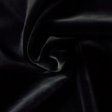 Tissu velours coton lisse noir