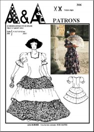 Gypsy's or spanish's dress P306
