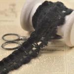 Dentelle de laine noire