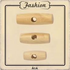 Bouton bois buchette