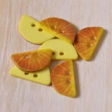Bouton tranche citron jaune 20 mm