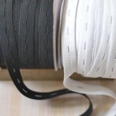 Elastique boutonnière maille noir ou blanc