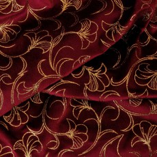 Velours rouge impression or TSTH0401