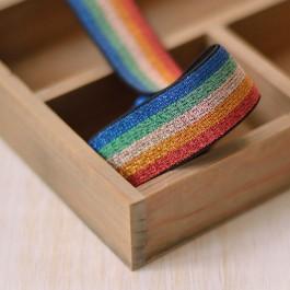 Elastique lingerie lurex multicolore
