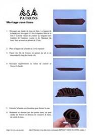 Document : montage d'une rose en tissu