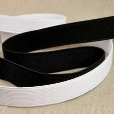 Elastique cotelé de 10 à 40 mm blanc ou noir