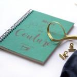 Carnet fashionary pour projets couture