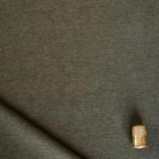 Tissu sweat molleton vert olive chiné