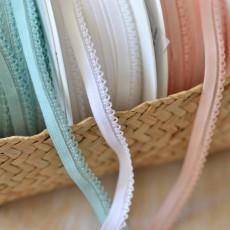 Elastique lingerie transparent rose, blanc, bleu vert pour bordure culotte