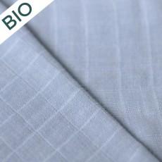 Tissu lange en coton bio au mètre à coudre bleu clair