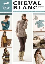 Magazine de modèles à tricoter en laine Cheval Blanc n°15