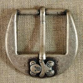 Boucle de ceinture métal avec ourson