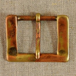 Boucle de ceinture métal cuivré