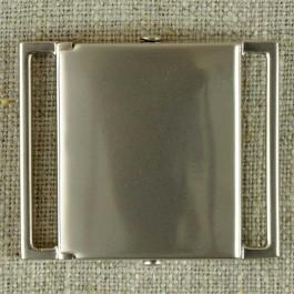 Boucle de ceinture métal argenté