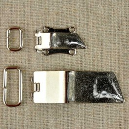 Fermoir à clip métal pailleté