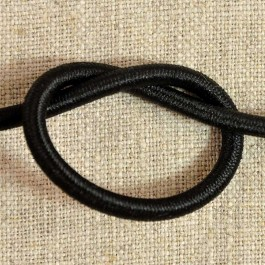 Elastique rond diamètre 4 mm noir