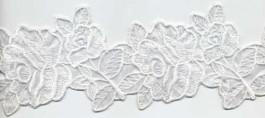 Fleurs brodées sur une base voile 80 mm