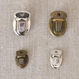 Attaches cartable bronze et argent, 2 tailes 33 et 25 mm