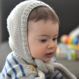 Kit tricot bébé béguin Gaspard