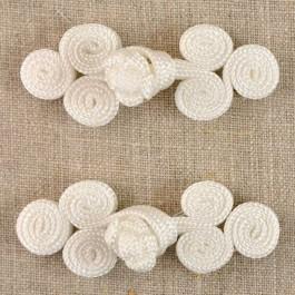 Brandebourg blanc chinois 70 mm