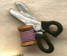 Ciseaux et bobine (charm)