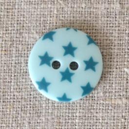 Bouton à étoiles bleu turquoise