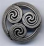 Bouton motif celte argent vieilli