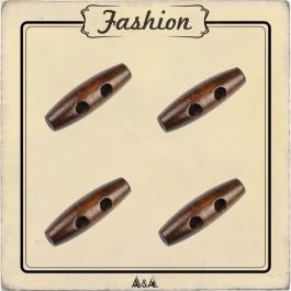 Bouton buchette marron foncé