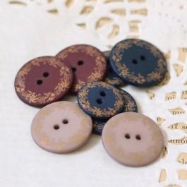 Boutons bord doré bordeaux, bleu marine ou beige