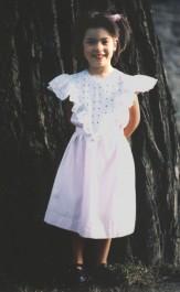 Patron couture robe volanté fille