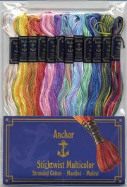 Ensemble de fils moulinés Anchor Multicolor