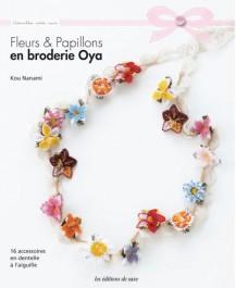 Livre Fleurs et papillons en broderie Oya