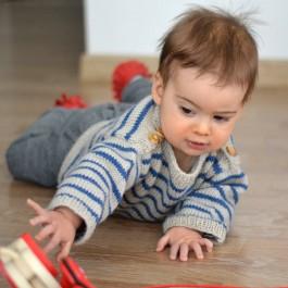 Marinière à tricoter bébé enfant Ambiance Fonty