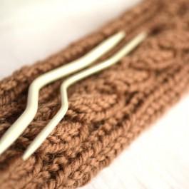 Aiguilles à torsades pour tricot