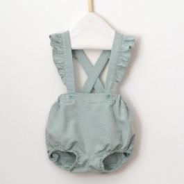 Patron couture bébé bloomer fille volants tissu lurex & chevron