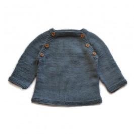 Modèle à tricoter du pull Lucien en BBmérinos  1-24M