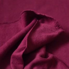 Coupon de 75 cm de sweat coton et chanvre 320 g/m² Rouge Beaujolais