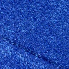 Tissu fourrure bleu électrique