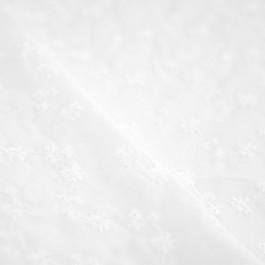Voile tissu broderie anglaise blanc fleurs