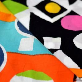 Tissu coton impression géométrique